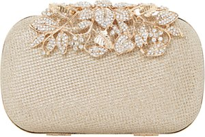 Read more about Dune emberrs box clutch bag gold