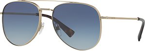 Read more about Valentino va2007b crystal detail aviator sunglasses gold blue gradient