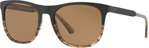 Read more about Emporio armani ea4099 polarised square sunglasses matte black pattern brown