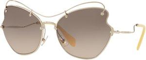 Read more about Miu miu mu 56rs cat s eye sunglasses silver grey gradient