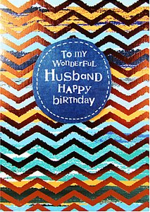 Read more about Paper salad wonderful husband birthday card