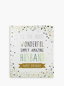 Read more about Portfolio amazing husband birthday card