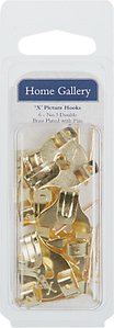 Read more about Home gallery picture hooks brass headed pins pack of 6