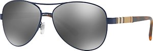 Read more about Burberry be3080 aviator sunglasses black mirror grey