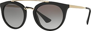 Read more about Prada pr 23ss cinema oval sunglasses black grey gradient