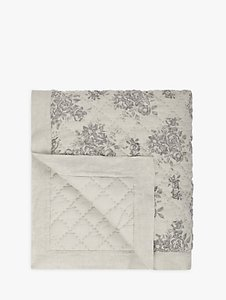 Read more about John lewis rose floral quilted linen bedspread