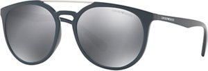Read more about Emporio armani ea4103 oval sunglasses matte grey mirror silver
