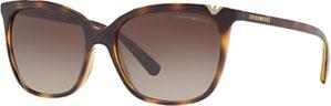 Read more about Emporio armani ea4094 square sunglasses tortoise brown gradient