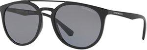 Read more about Emporio armani ea4103 polarised oval sunglasses black grey