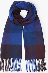 Read more about John lewis cashmink herringbone large square scarf navy