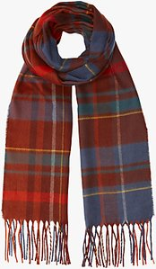 Read more about John lewis cashmink twill check scarf multi
