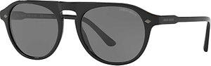 Read more about Giorgio armani ar8096 frames of life polarised oval sunglasses matte black grey