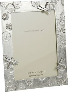 Read more about Lancaster and gibbings pewter dragonfly photo frame silver 7 x 5 18 x 13cm