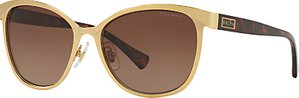 Read more about Ralph ra4118 polarised cat s eye sunglasses gold brown