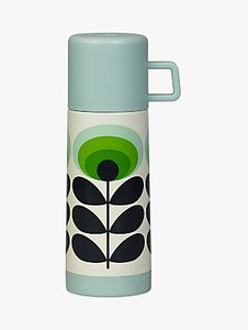 Read more about Orla kiely 70s oval flower flask green multi 350ml