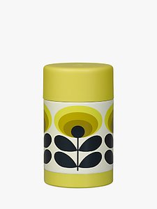Read more about Orla kiely 70s oval flower food flask yellow multi 500ml