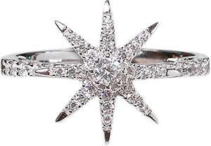 Read more about Carat london vega stella ring silver