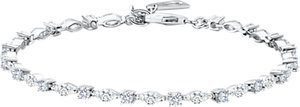 Read more about Jools by jenny brown cubic zirconia tennis bracelet silver