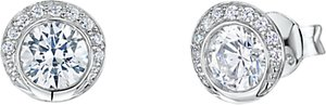 Read more about Jools by jenny brown circular cubic zirconia stud earrings silver