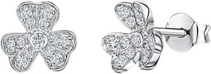 Read more about Jools by jenny brown cubic zirconia blooming flower stud earrings silver