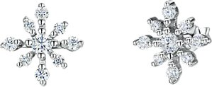 Read more about Jools by jenny brown cubic zirconia snowflake stud earrings silver