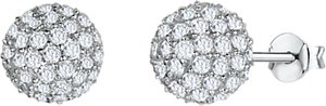 Read more about Jools by jenny brown cubic zirconia bouquet stud earrings silver