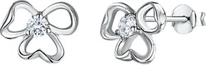 Read more about Jools by jenny brown cubic zirconia tri-stemmed stud earrings silver