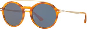 Read more about Persol po3172s round sunglasses light havana blue