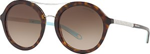 Read more about Tiffany co tf4136b round sunglasses tortoise brown gradient