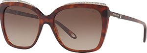 Read more about Tiffany co tf4135b oversize square sunglasses tortoise brown gradient