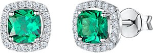 Read more about Jools by jenny brown cubic zirconia cushion stud earrings