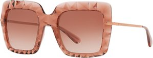 Read more about Dolce gabbana dg6111 stud texture outsize square sunglasses blush rose gradient