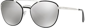 Read more about Prada pr 63ts oval sunglasses silver mirror grey
