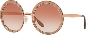 Read more about Dolce gabbana dg2179 textured round sunglasses rose gold pink gradient