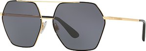 Read more about Dolce gabbana dg2157 polarised hexagonal sunglasses gold grey