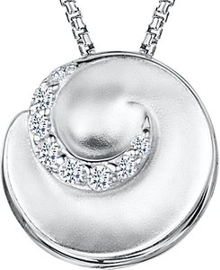 Read more about Jools by jenny brown cubic zirconia swirl pendant necklace silver