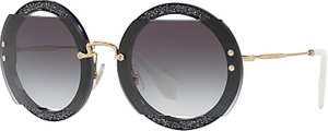 Read more about Miu miu mu 06ss round beaded sunglasses grey