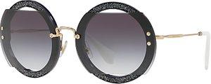 Read more about Miu miu mu 06ss round beaded sunglasses grey