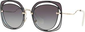 Read more about Miu miu mu 54ss square sunglasses grey