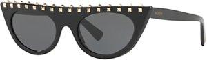 Read more about Valentino va4018 studded cat s eye sunglasses black grey