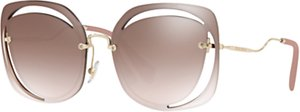 Read more about Miu miu mu 54ss square sunglasses brown gold