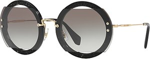 Read more about Miu miu mu 06ss round beaded sunglasses black