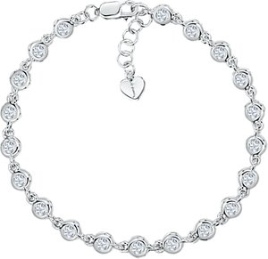 Read more about Jools by jenny brown round cubic zirconia bracelet silver