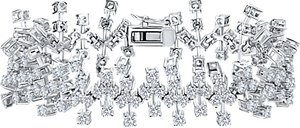 Read more about Jools by jenny brown abstract cubic zirconia bracelet silver