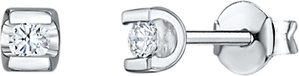 Read more about Jools by jenny brown cubic zirconia square stud earrings silver