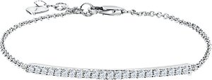 Read more about Jools by jenny brown cubic zirconia bar chain bracelet silver