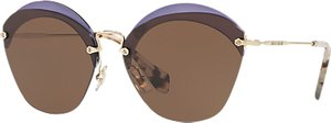 Read more about Miu miu mu 53ss oval sunglasses brown