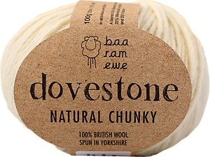 Read more about Baa ram ewe dovestone natural chunky yarn 100g