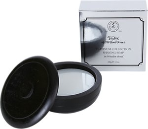Read more about Taylor of old bond street platinum collection shaving soap with wooden bowl 100g
