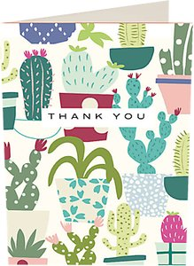 Read more about Caroline gardner cactus thank you notecards pack of 10